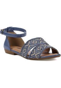 Sandália Rasteira Feminina Dakota - Feminino-Azul