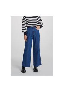 Calça Jeans Pantalona Feminina