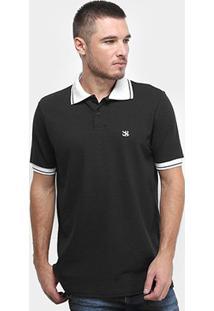 Camisa Polo Derek Ho Friso Logo Dkho Masculina - Masculino-Preto