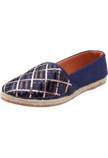 Alpargata Dafiti Shoes Paetês Azul Marinho
