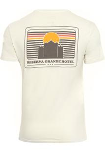 Camiseta Masculina Estampada Grande Hotel - Off White