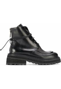 Marsèll Ankle Boot Com Solado Tratorado - Preto