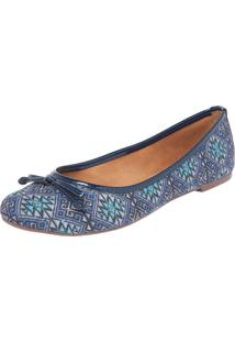 Sapatilha Dafiti Shoes Étnico Azul