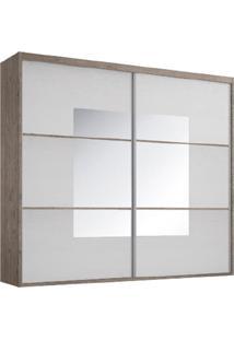 Guarda-Roupa Casal 2 Portas Com Espelho 100% Mdf 1975Slin Demolição/Branco - Foscarini