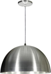 Pendente De Alumínio Com Cúpula Grande 15 Polegadas Escovado