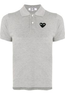 Comme Des Garçons Play Heart Patch Polo Shirt - Cinza
