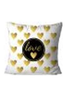 Capa De Almofada Avulsa Decorativa Geométrica Love 35X35