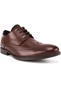Sapato Masculino Com Recortes E Perfuros Marrom