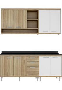 Cozinha Compacta Multimóveis Sicília 5819.132.131.610 Argila Branco Se