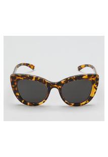 Amaro Feminino Óculos De Sol Largo Acetato Reciclado, Tartaruga