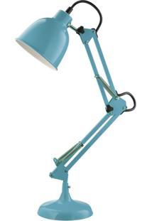 Luminária De Mesa Articulada Azul Mart