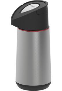 Garrafa Térmica De Aço Inox Com Ampola De Vidro 1,20L - Exata - Cor Inox