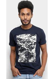 Camiseta Ellus Route United As One Masculina - Masculino-Azul Escuro