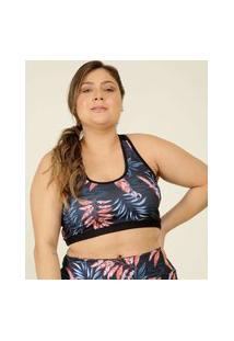 Top Plus Size Feminino Fitness Estampado Marisa