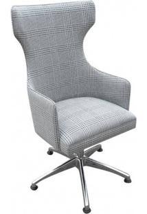 Cadeira Bergere Giratoria C/ Ajuste De Altura E Relax E Tecido Personalizado