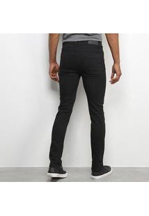 Calça Sarja Terminal Skinny Masculina - Masculino-Preto