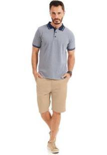 Camisa Polo Masculino Rovitex - Masculino-Azul