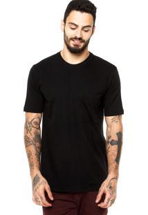 Camiseta Manga Curta West Coast Bolso Preta