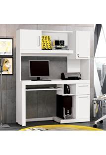 Escrivaninha / Mesa Para Computador Everest - Branco - Edn Móveis