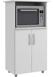 Armário Para Micro-Ondas Isabeli 2 Pt Branco