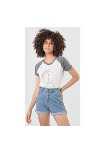 Camiseta Tricats Raglan Lovely Cinza