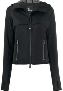 Moncler Grenoble Fitted Hooded Jacket - Preto