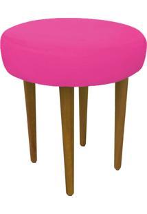 Puff Banqueta Dani Redondo Pés Palito Suede Pink - D'Rossi