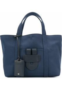 Tila March Bolsa Tote Média 'Simple' - Azul