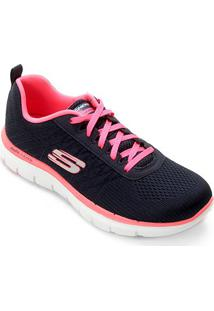 Tênis Skechers Flex Appeal 2.0 Break Free Feminino - Feminino-Marinho+Pink