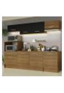 Cozinha Completa Madesa Onix 240002 Com Armário E Balcão - Rustic/Preto 5Z7K