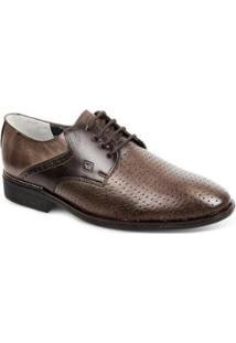 Sapato Social Couro Derby Sandro Moscoloni Fabriano Masculino - Masculino-Marrom Escuro