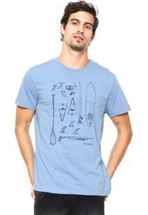 Camiseta Richards Estampada Azul