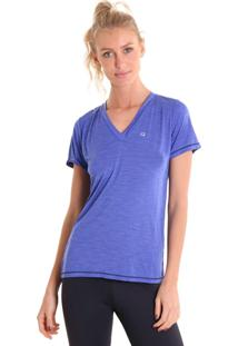 Camiseta Liquido Gola V Energy Roxa - Tricae