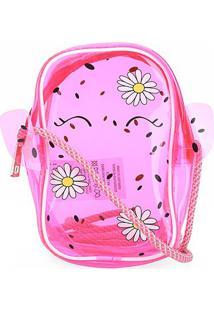 Bolsa Infantil Pagani Mini Bag Cacto Feminina - Feminino-Rosa