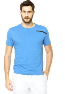 Camiseta Calvin Klein Jeans Reta Azul