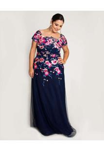 Vestido Almaria Plus Size Pianeta Longo Maga Curta