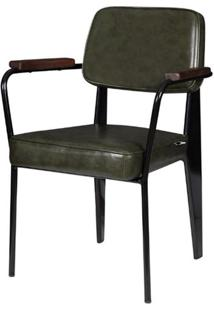 Cadeira Jean Provve Estofada C/ Braco Verde 81 Cm (Alt) - 47260 - Sun House