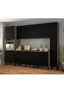 Cozinha Compacta Itamaxi Ii 14 Pt 4 Gv Preta E Castanho