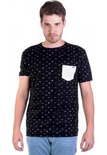 Camiseta Full Print Com Bolso - Ícones Emojis