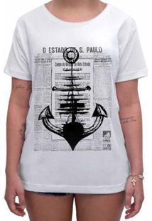 Camiseta Impermanence Estampada Âncora Feminina - Feminino