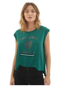 Camiseta Rosa Chá Mel Malha Verde Feminina Camiseta Mel-Storm-G