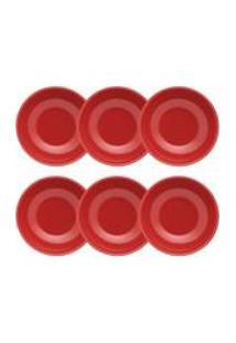 Conjunto De 6 Pratos Fundos 20,5Cm Unni Red