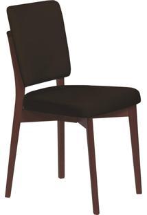 Cadeira Estofada Tramontina 14200/435 Berlim Madeira Tabaco/Preto