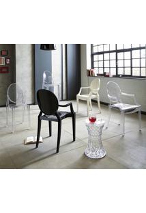 Cadeira Sophia (Com Braços) Transparente