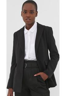 Blazer Banana Republic Sculpted Washable Preta