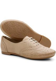 Sapato Oxford Mocassim Casual - Nude
