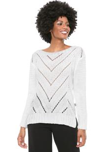 Suéter Mercatto Tricot Geométrico Off-White