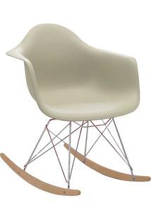 Cadeira Eiffel C/Braço Pp Nude Base Balanco Rivatti