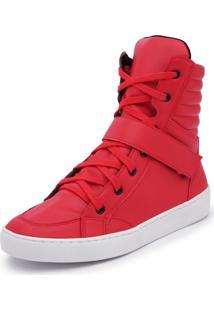 Sapatênis Cano Alto Top Franca Shoes Vermelho