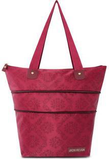 Bolsa Expansível Damasco- Vermelho Escuro- 28X41X14Cjacki Design